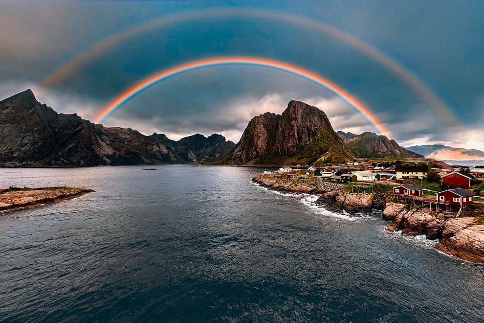 Радуга на Лофотенских островах