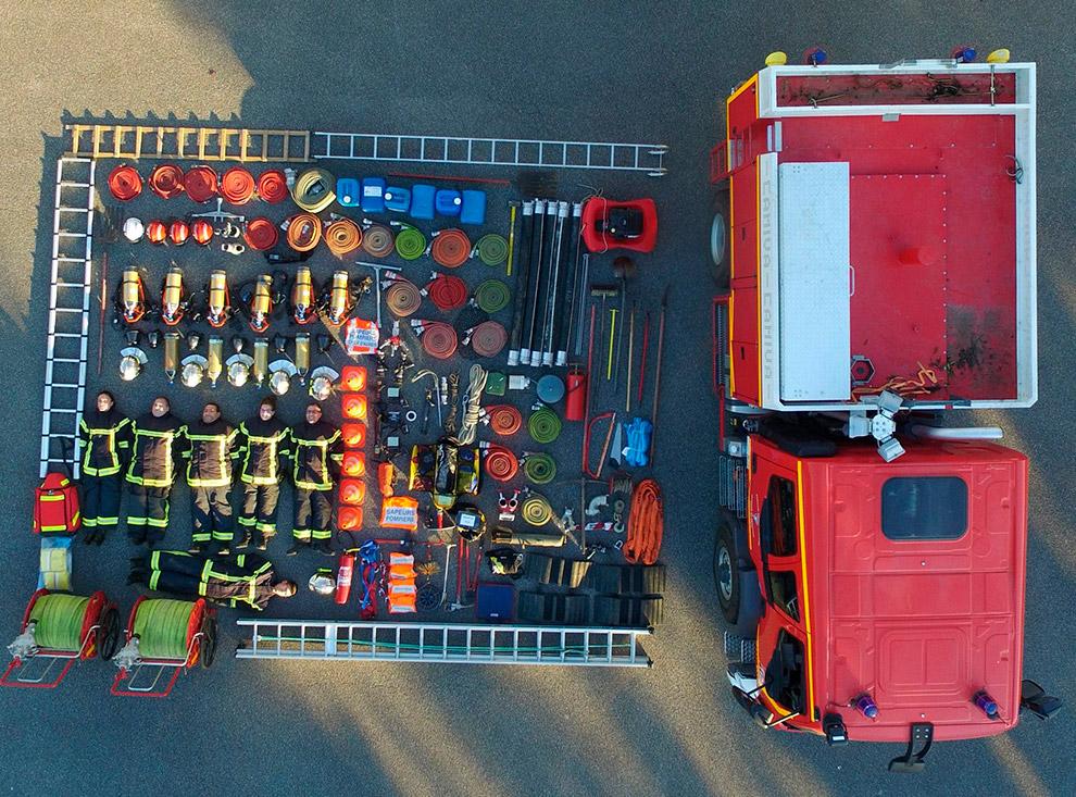 Пожарные из французской коммуны