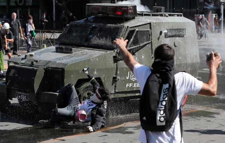 Как протестуют в Чили