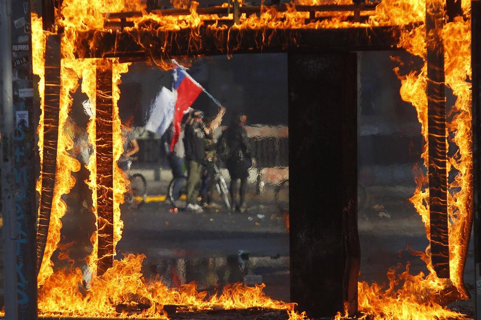 Акция протеста 21 октября 2019 года в Сантьяго