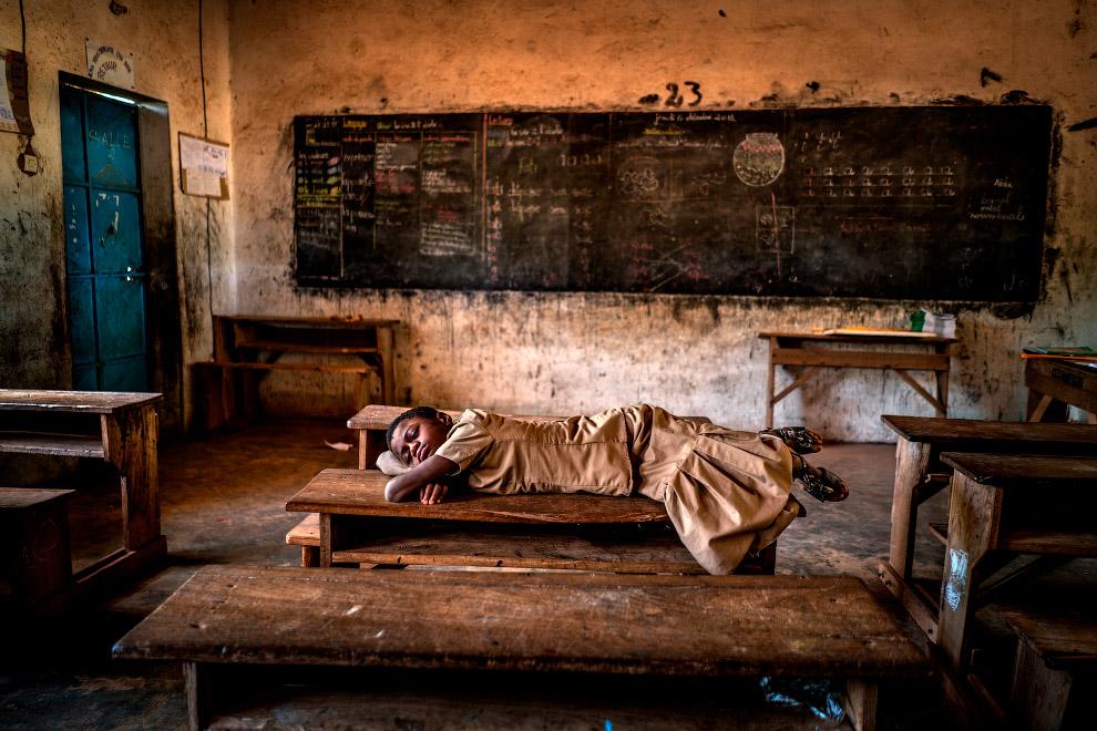 Школьный класс в Буркина-Фасо