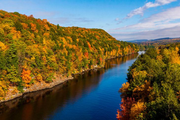 Осень в американском штате Массачусетс
