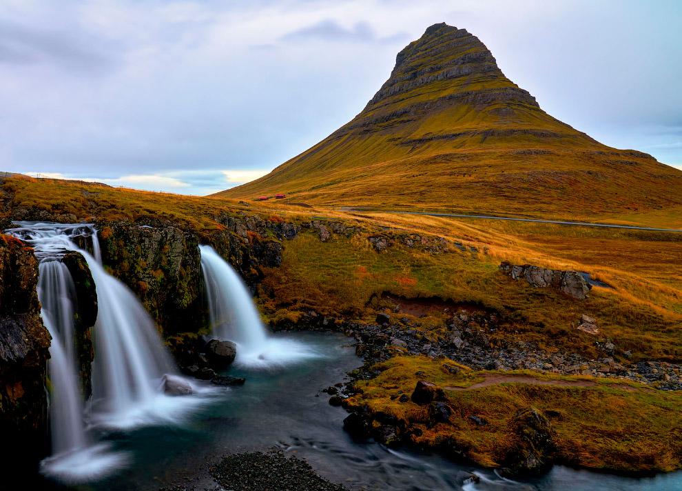 Осенние краски на исландском полуострове Снафеллснес