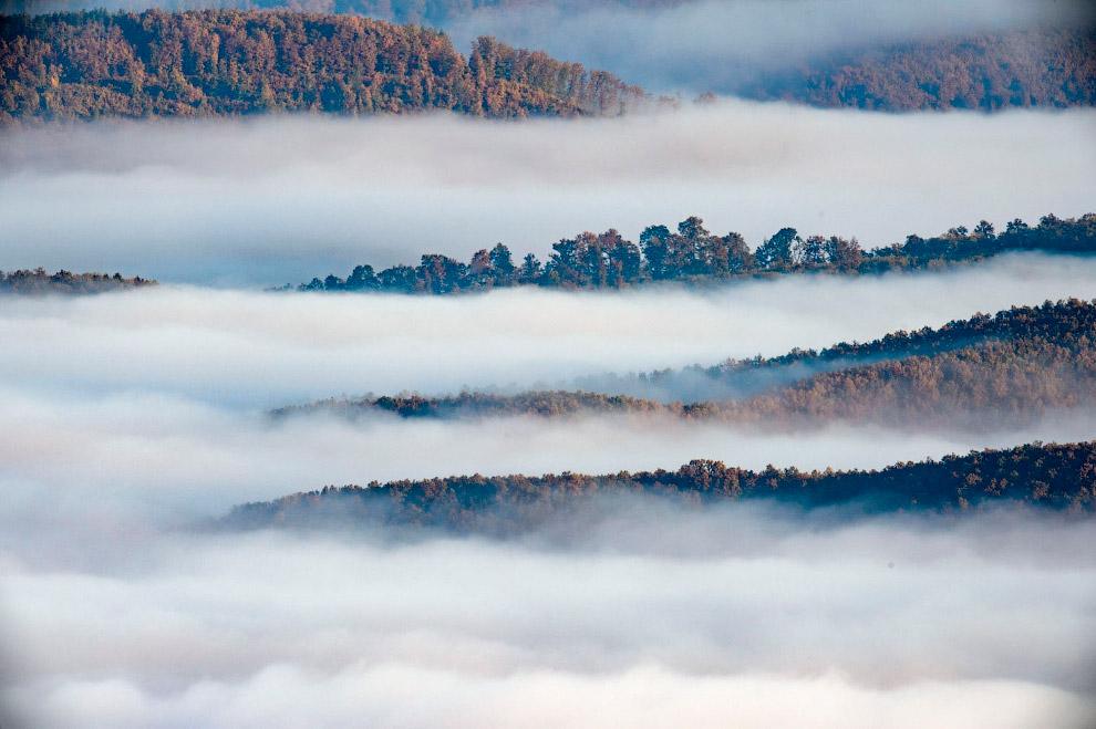 Утренний осенний туман, Венгрия