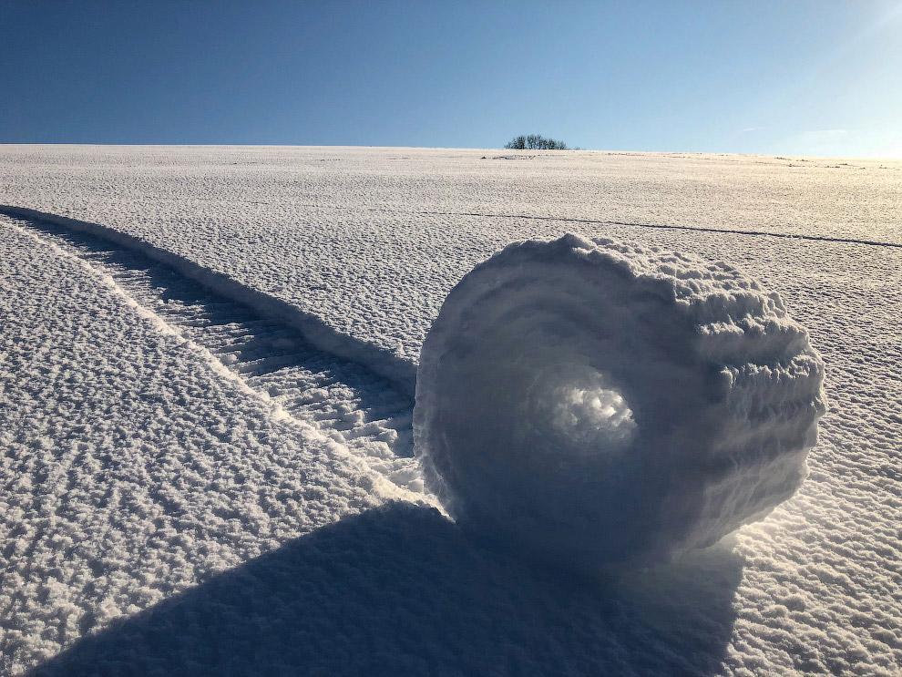 Снежное поле в Уилтшире
