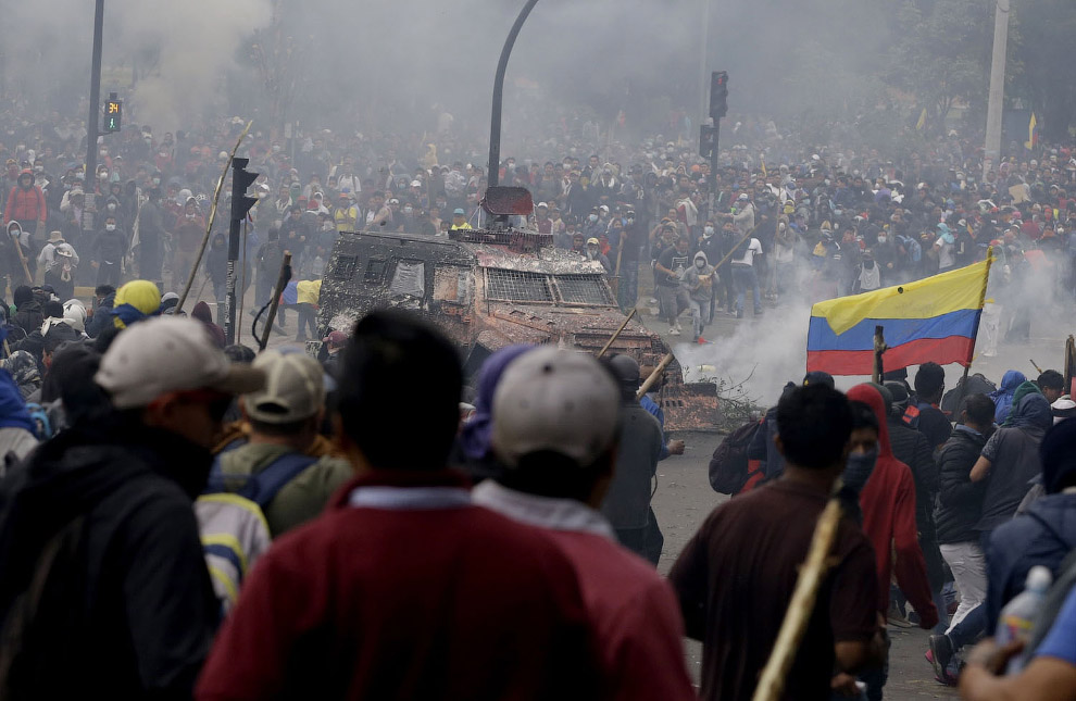 Как протестуют в Эквадоре