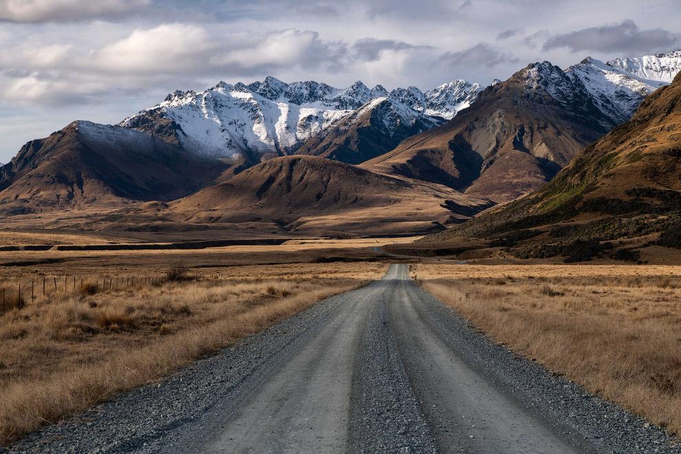 Пейзажи на на Южном острове Новой Зеландии
