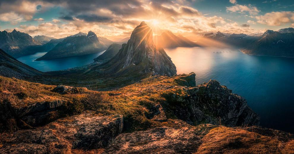 Пейзажи на острове Сенья в Норвегии