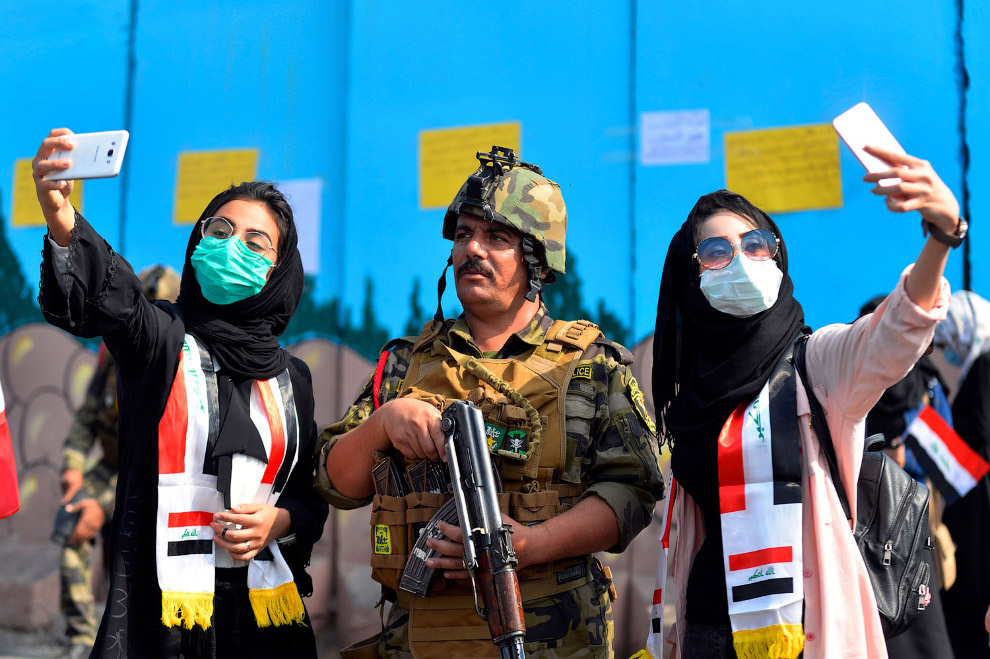 Как протестуют в Ираке
