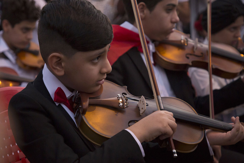 Музыканты в поддержку протестующих в Басре