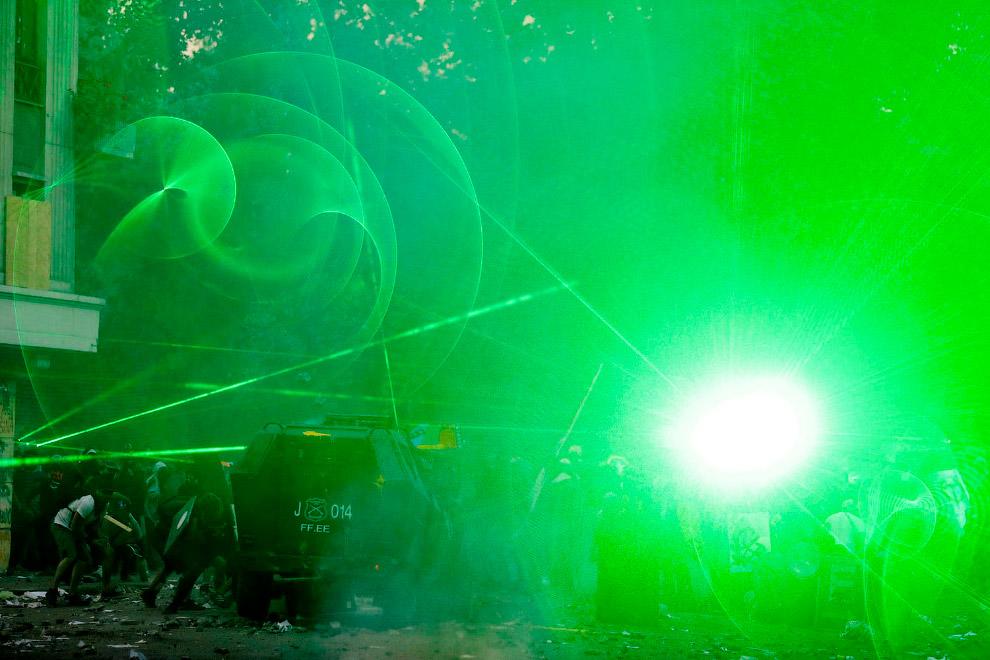 Лазер в камеру. Чили, Сантьяго