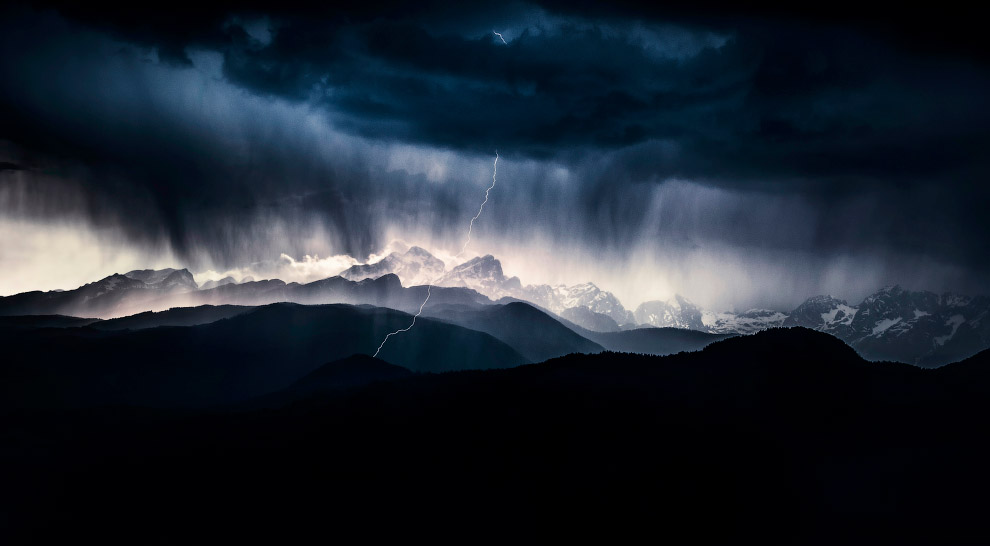 "Winner in the category ""Landscapes"": ""The storm day."""
