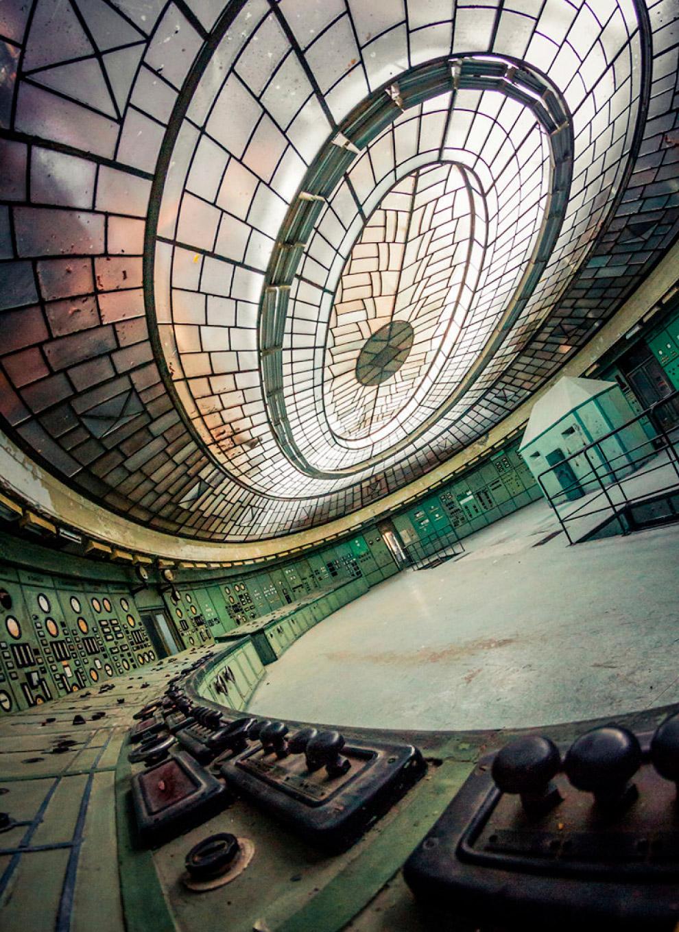 Диспетчерская на закрытой электростанции в Венгрии