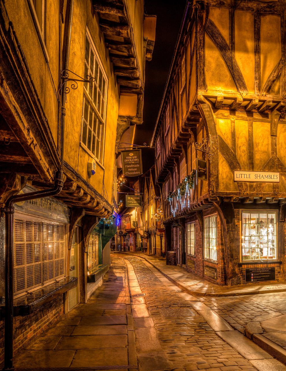 Исторические руины в центре города Йорк