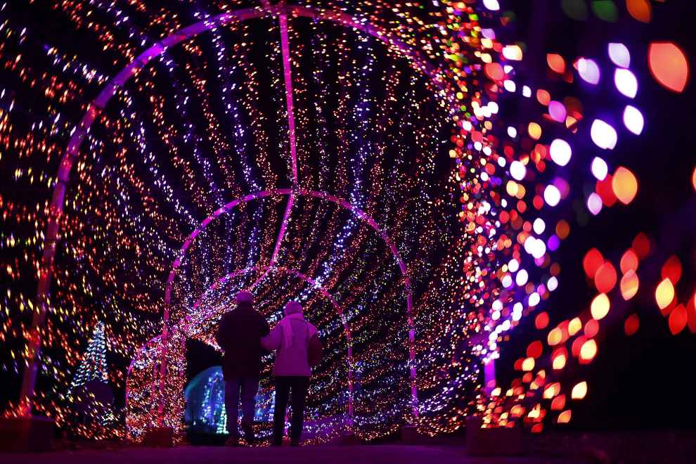 Рождественский тоннель в Сент-Луисе