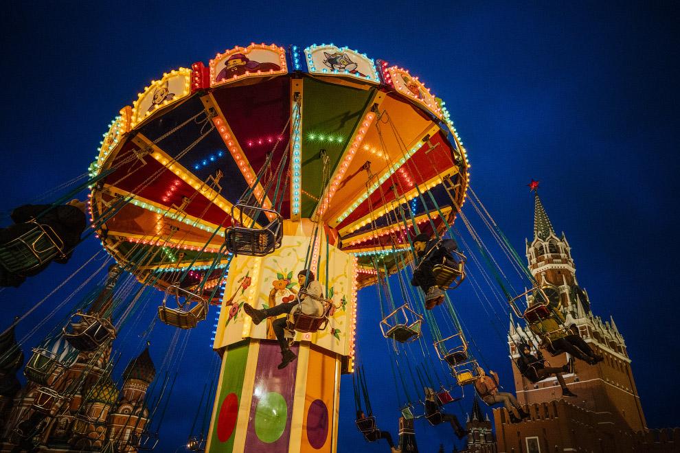 Рождественская ярмарка на Красной площади в Москве
