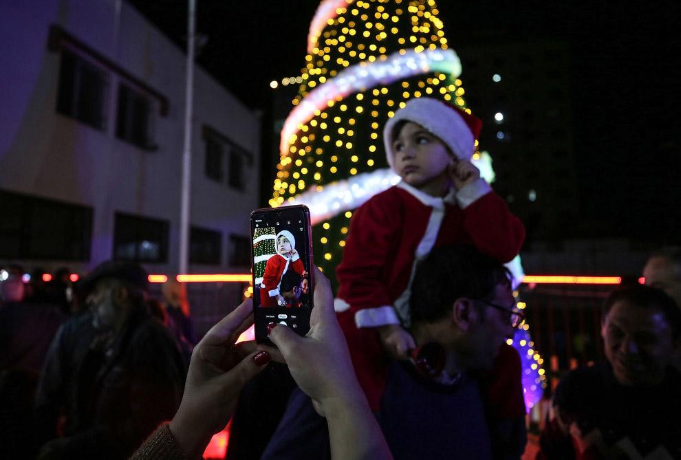 Новогодние улицы в Газе