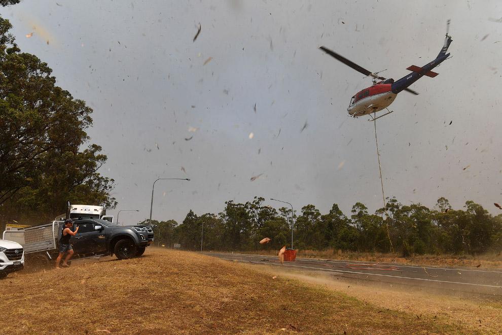 Пожарный вертолет в городе Суссекс-Инлет