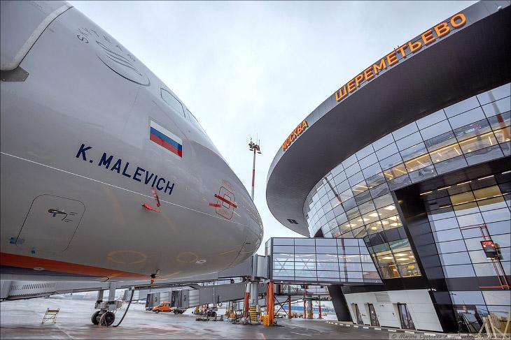 Бизнес-зал «Малевич» в Шереметьево: самолёт, бизнес-зал и художник