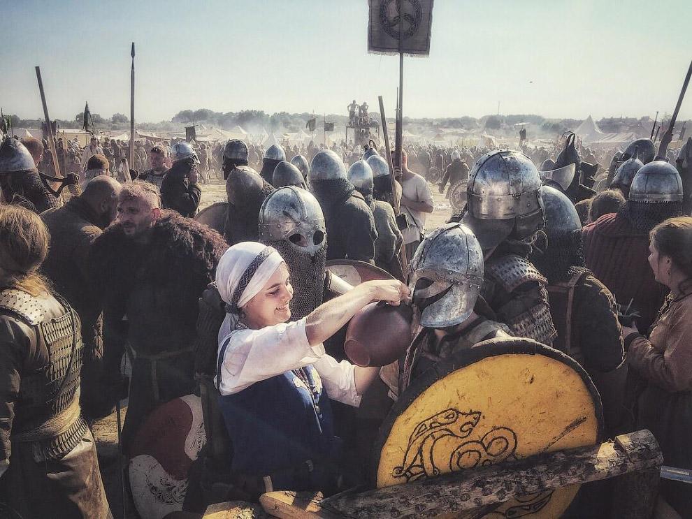 На фестивале викингов