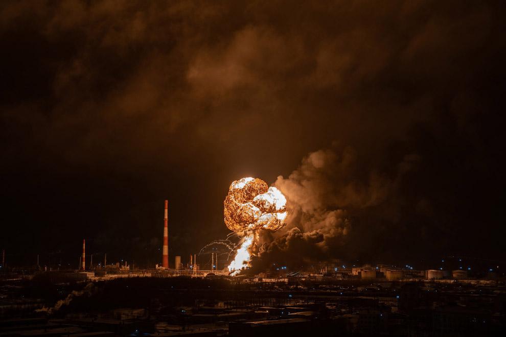 Взрыв на нефтеперерабатывающем заводе в Ухте, Республика Коми