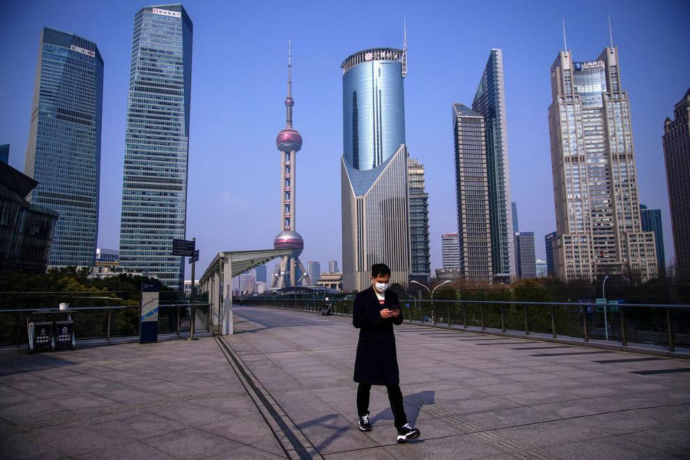 Пустые улицы Шанхая
