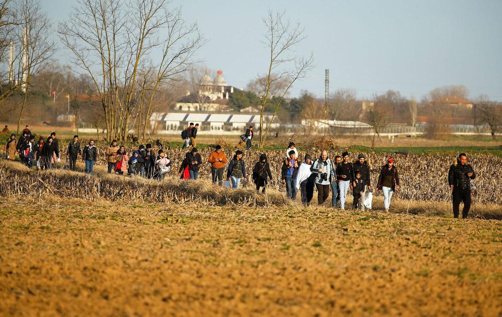 Вереницы мигрантов