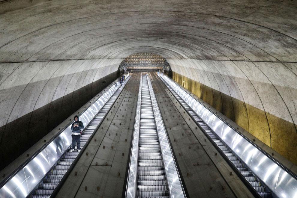 Пустое метро в Мэриленде