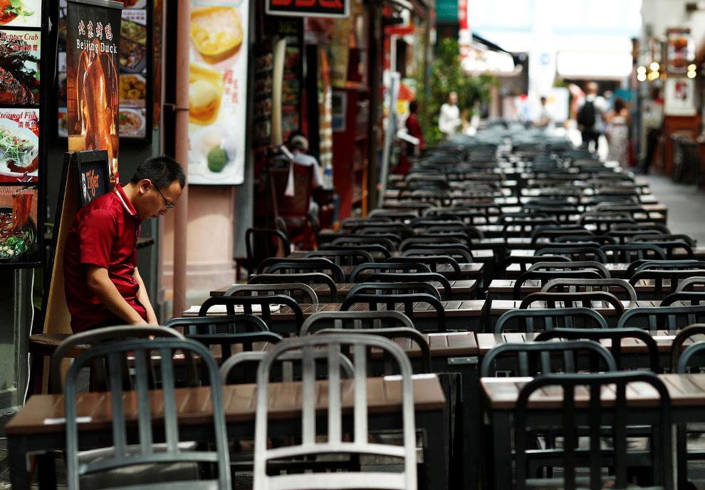 Пустой китайский квартал в Сингапуре