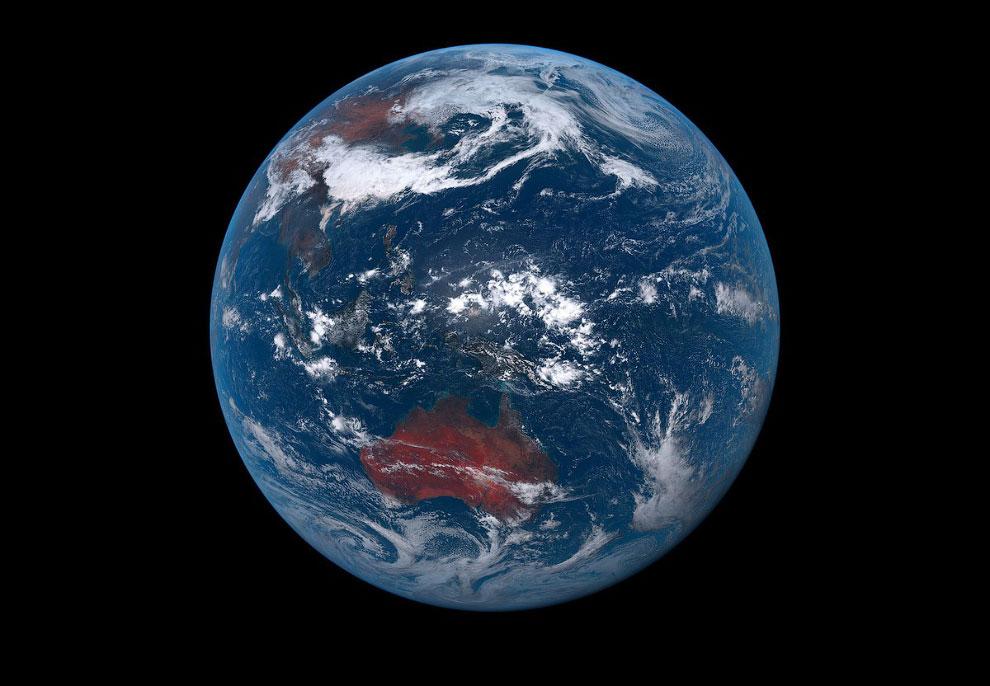 Снимок нашей голубой планеты