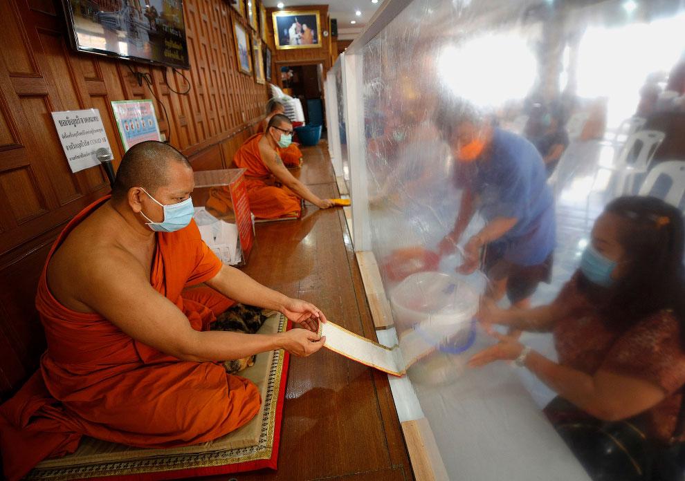 Тайские буддийские монахи