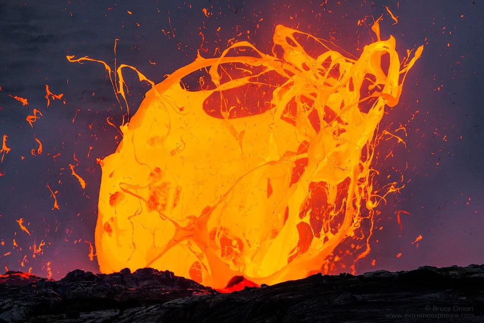 Фотографии лавы, опасные для жизни