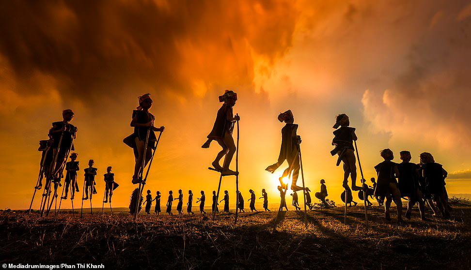 Фестиваль в провинции Гиа Лай, Вьетнам