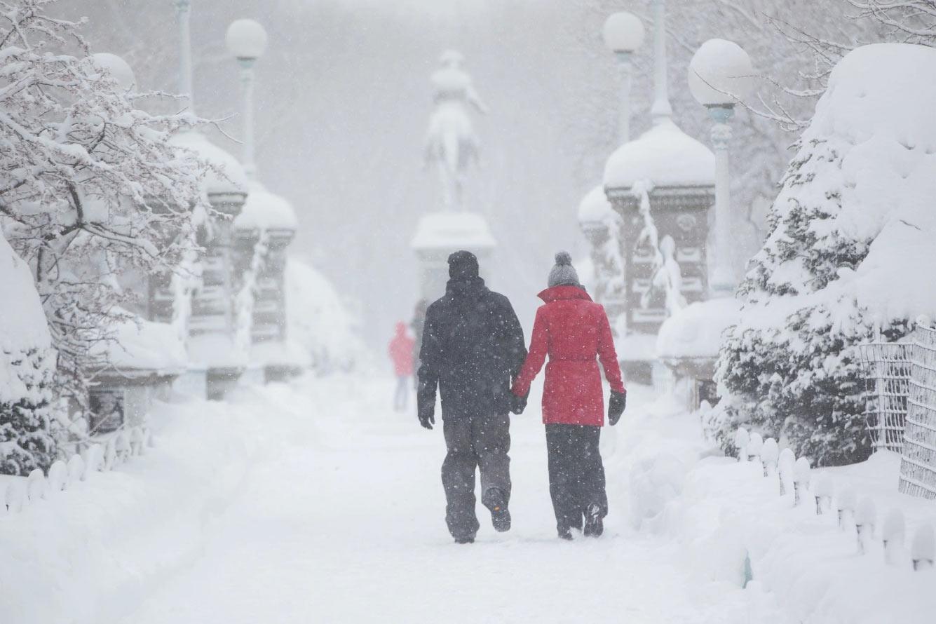 Новогодняя погода, Бостон, штат Массачусетс