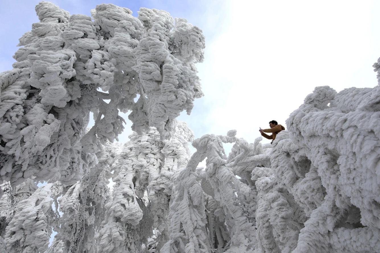 Новогодняя погода в китайской провинции Гуйчжоу