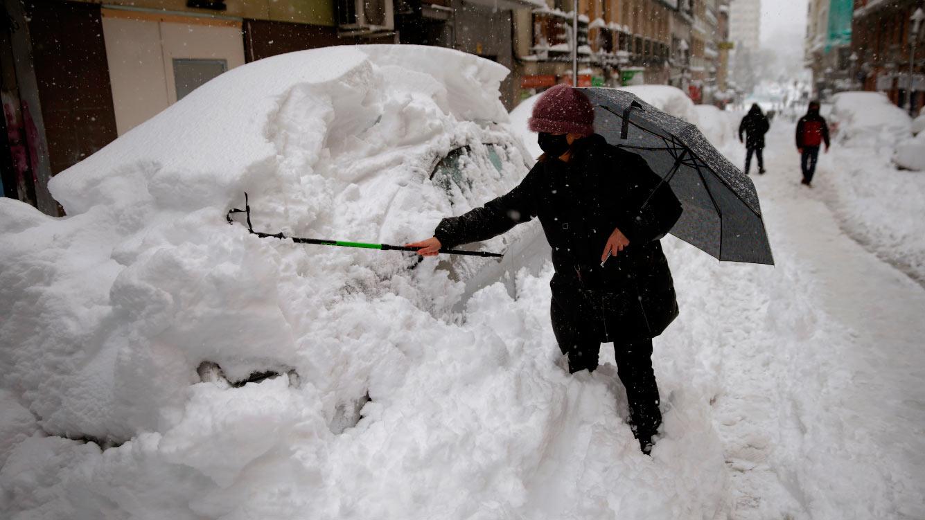 Снегопад в Мадриде