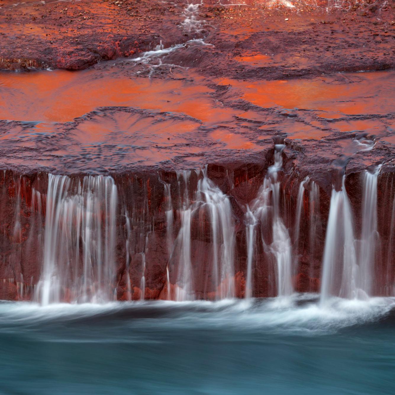 Водопад в инфракрасном