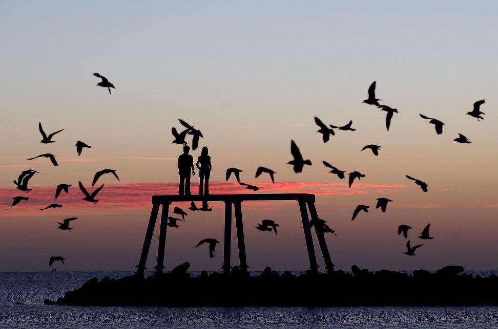 Скульптура «Пара» в Нортумберленде, Великобритания