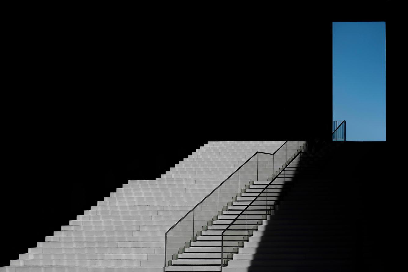 Лестница в Дюссельдорфе, Германия