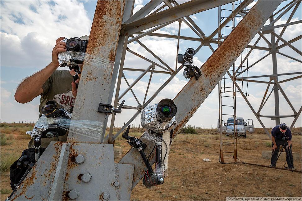 Как снимают взлет ракеты на космодроме Байконур