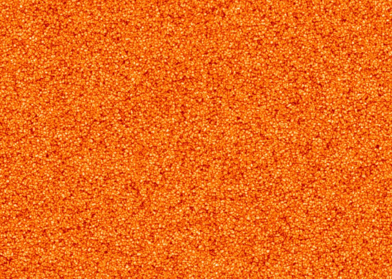 Снимок поверхности Солнца крупным планом
