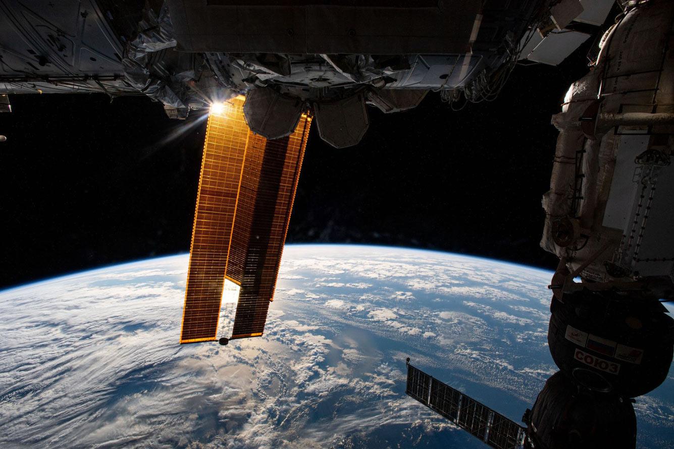 МКС над Атлантическим океаном