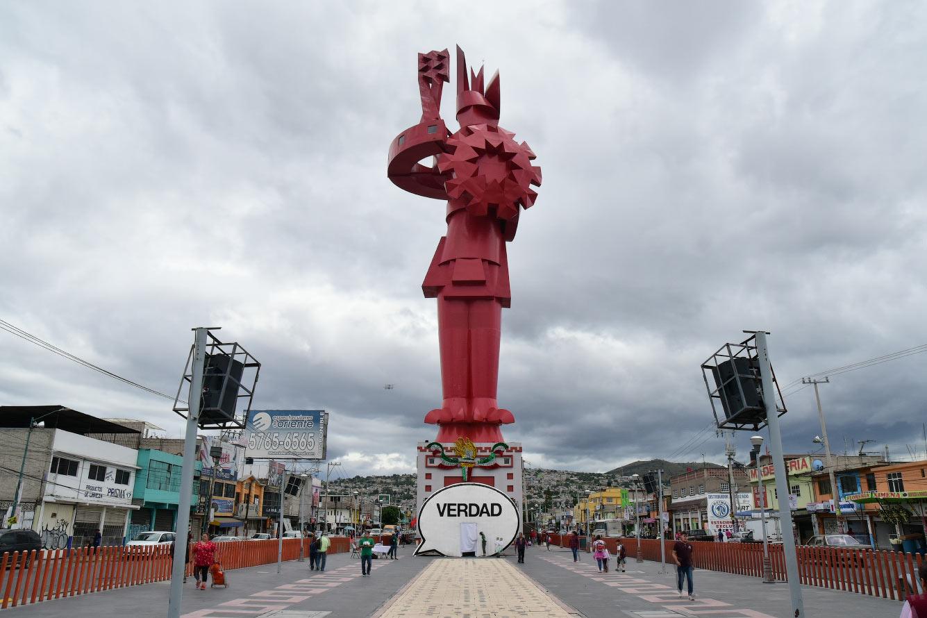 Статуя Герреро Чималли в Мексике