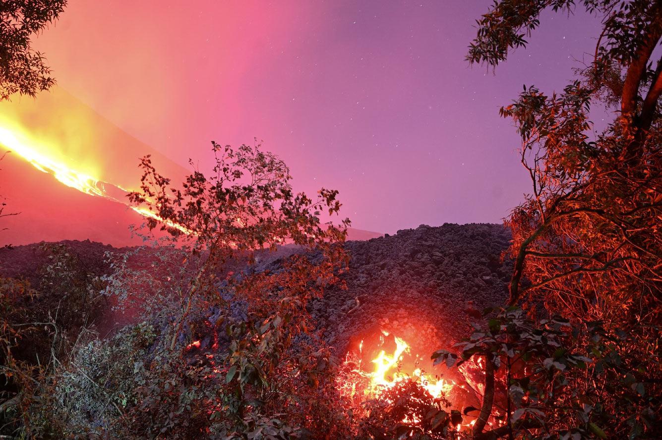 Вулкан Пакая в Гватемале