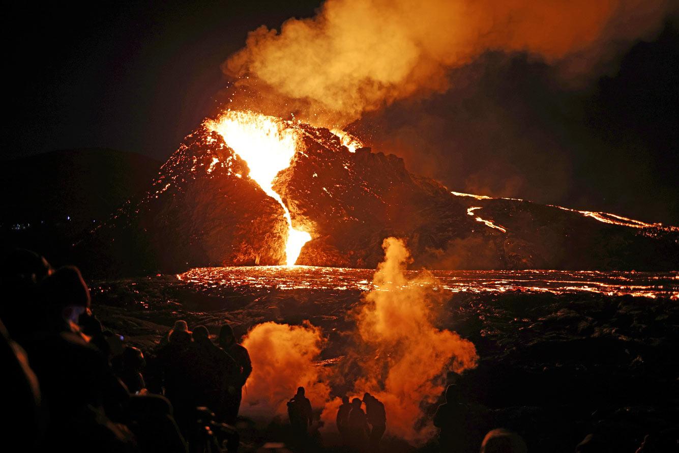 Базальтовая лава — это основной тип лавы