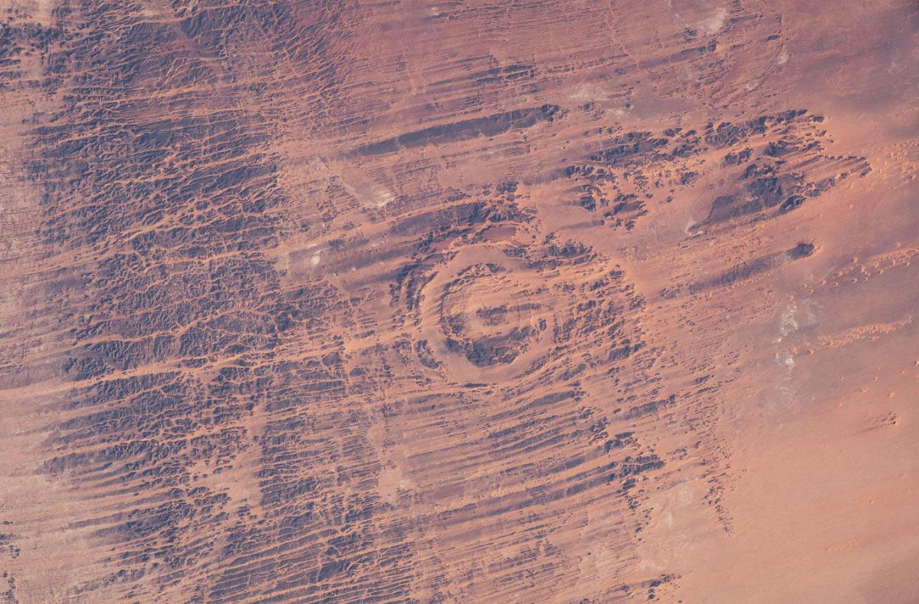 Снимок кратера Аорунга в Чаде