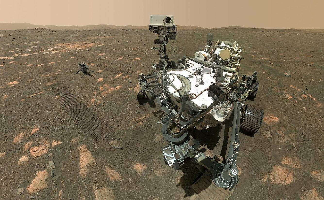 Селфи марсохода NASA Персеве́ранс