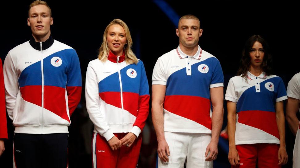Спортсмены демонстрируют олимпийскую форму