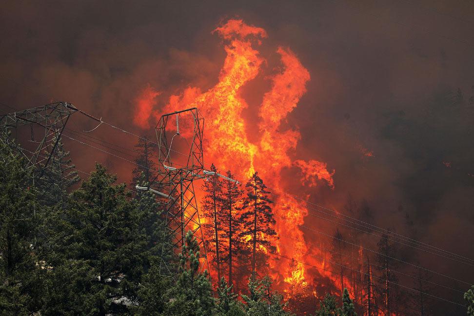 Самый большой в истории США пожар