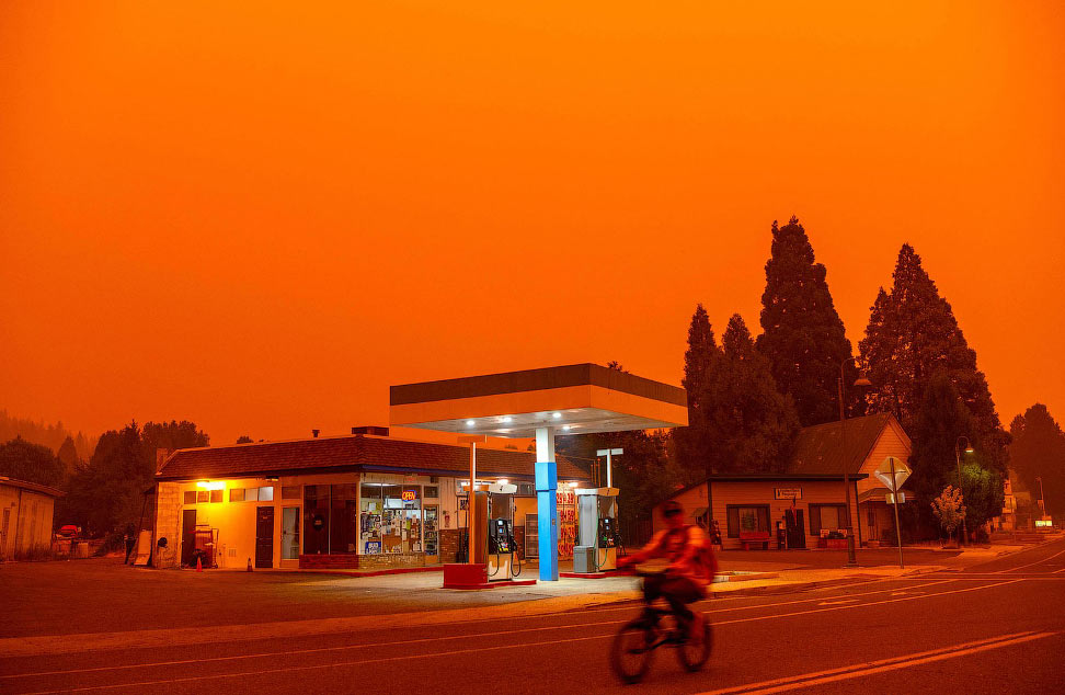 Пожар Дикси в Гринвилле, штат Калифорния